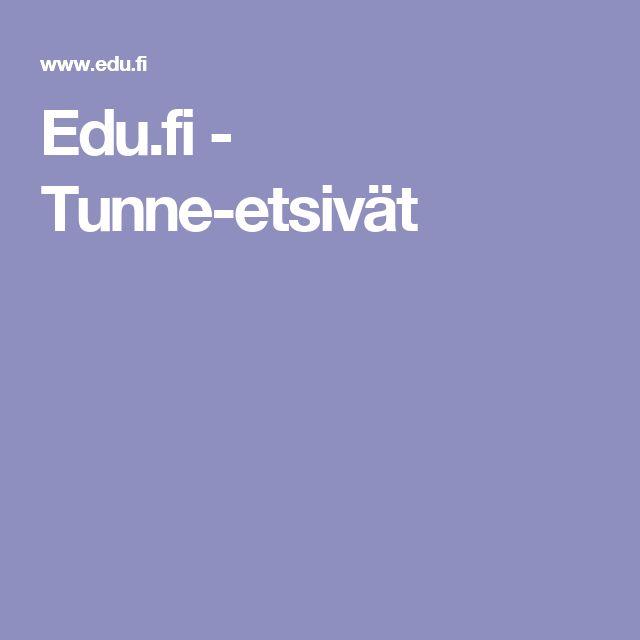 Edu.fi - Tunne-etsivät