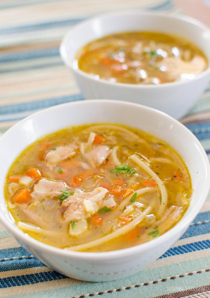 Chicken Noodle Soup - one of the most comforting bowls of soup you will ever make. You'll never open a can again with how amazing this tastes.