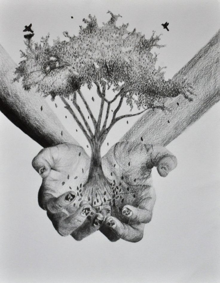 Hands Holding A Tree by Sarah248 on DeviantArt | Tats ... Hands Holding Something Drawing