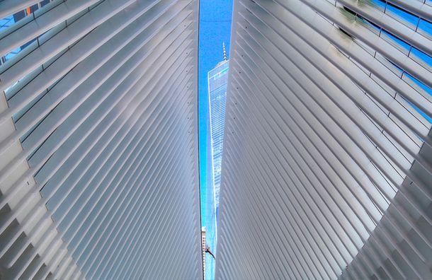 Транспортный узел по проекту Сантьяго Калатравы в Нью-Йорке