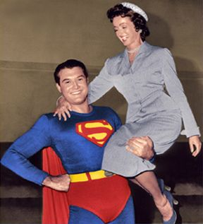 Superman and Lois Lane from The Adventures of Superman.