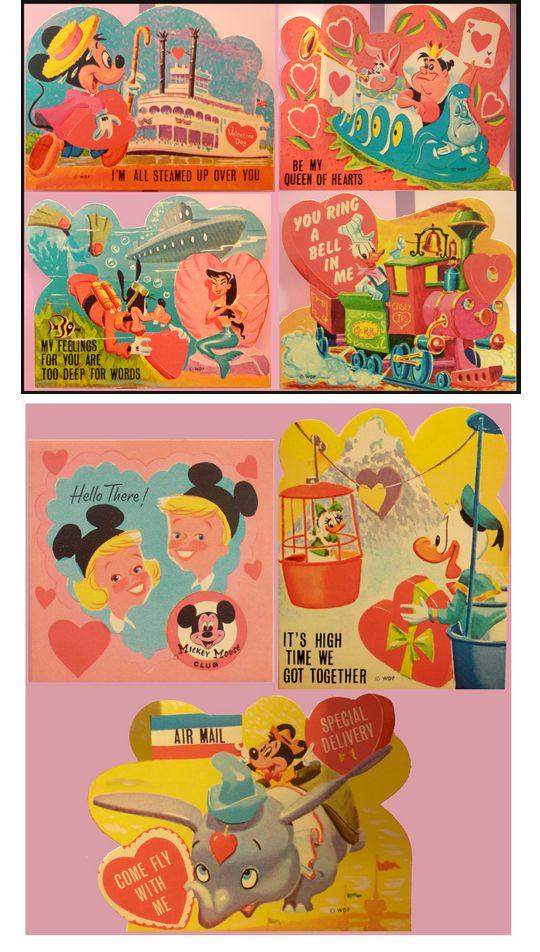 Vintage Disneyland Valentines (1959)