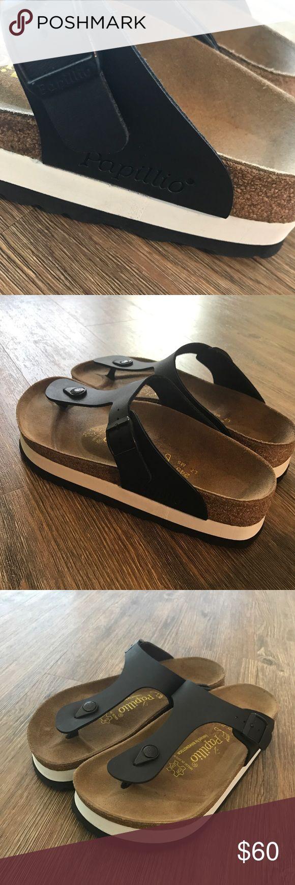 Birkenstock Papillio Gizeh platform sandals NEW 38 New without box Papillio by Birkenstock Gizeh Birko-Flor sandals size 38 us 8 Birkenstock Shoes Sandals