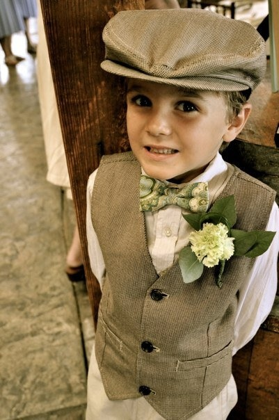 Adorable Ring Bearer Outfit for Rustic Wedding!