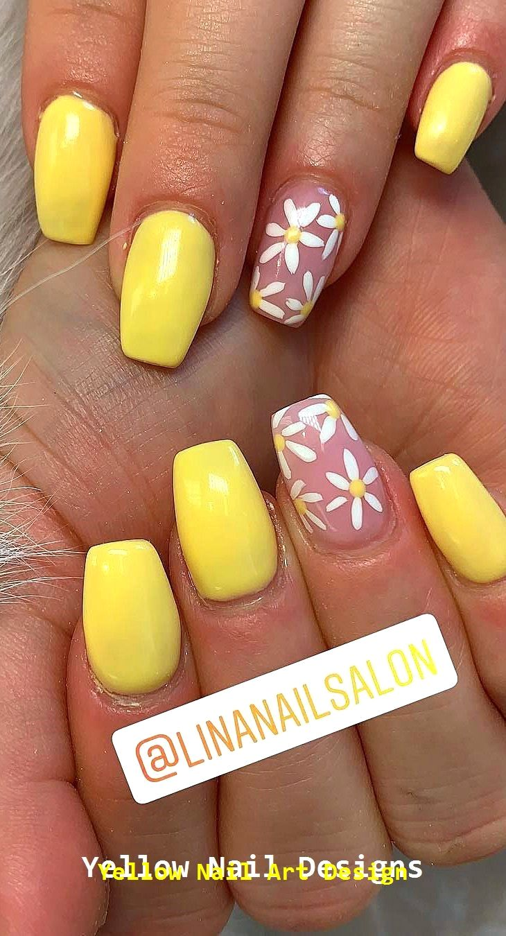 23 große gelbe Nail Art Designs 2019 1 #yellownails #nailarts