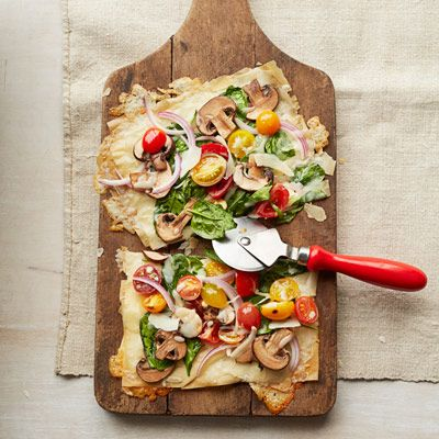 This easy vegetable pizza recipe replaces time-consuming crust with ready-made phyllo dough. #vegetables #myplate