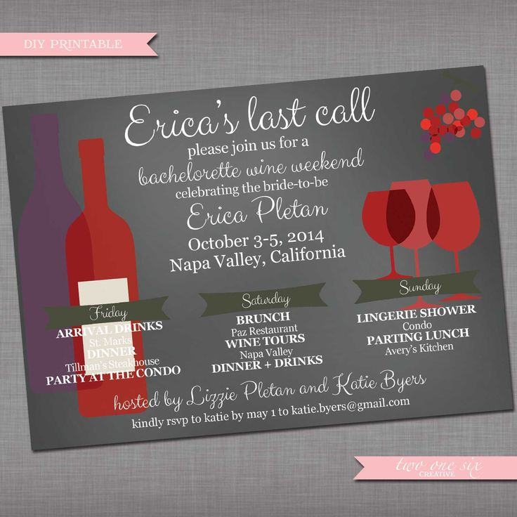 avery address labels wedding invitations%0A Bachelorette Weekend Invitation   Wine Getaway Invitation   Girls Weekend    DIY Printable by TwoOneSixCreative on