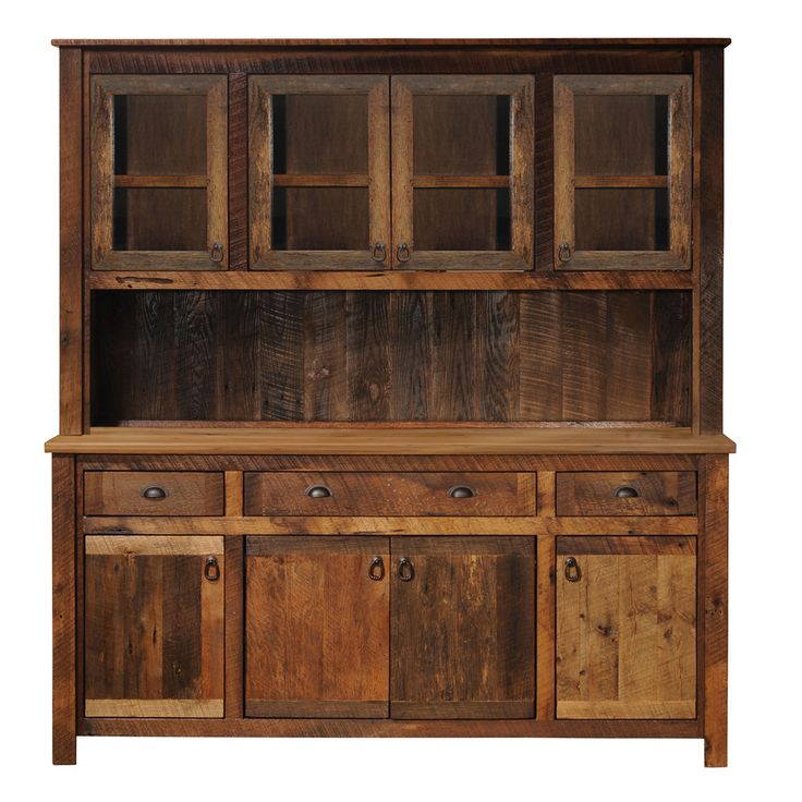 Fireside Lodge Furniture B1618 Barnwood China Hutch - Home Furniture Showroom