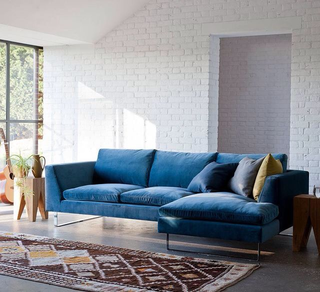 Modern Corner Sofa With Blue Part 60