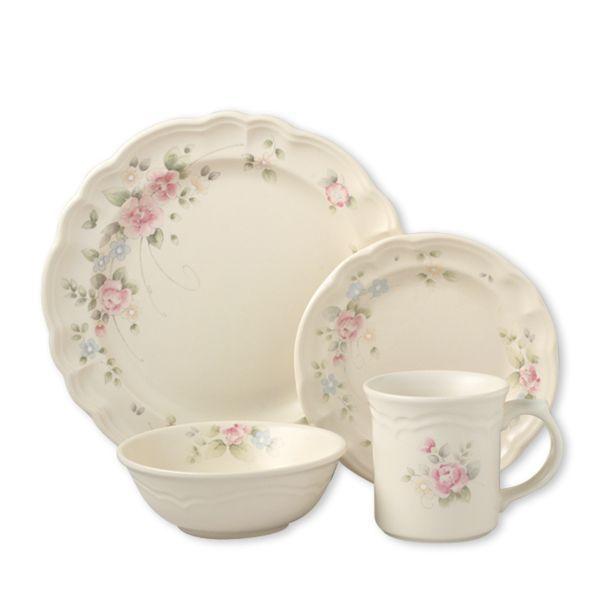 pfaltzgraff tea rose dinnerware set