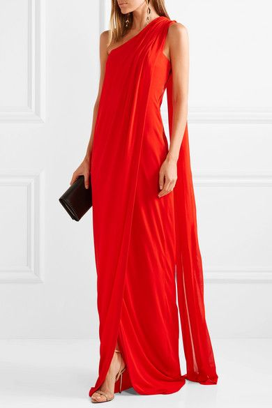 dbca4532f8b TOM FORD - One-shoulder draped jersey gown in 2019