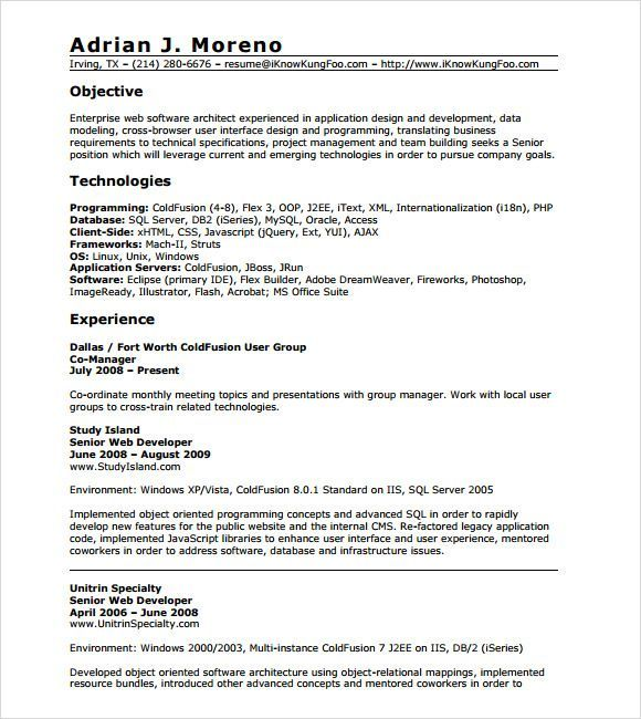 Resume Templates For 8 Years Experience Resume Templates Resume Templates Resume Examples Resume