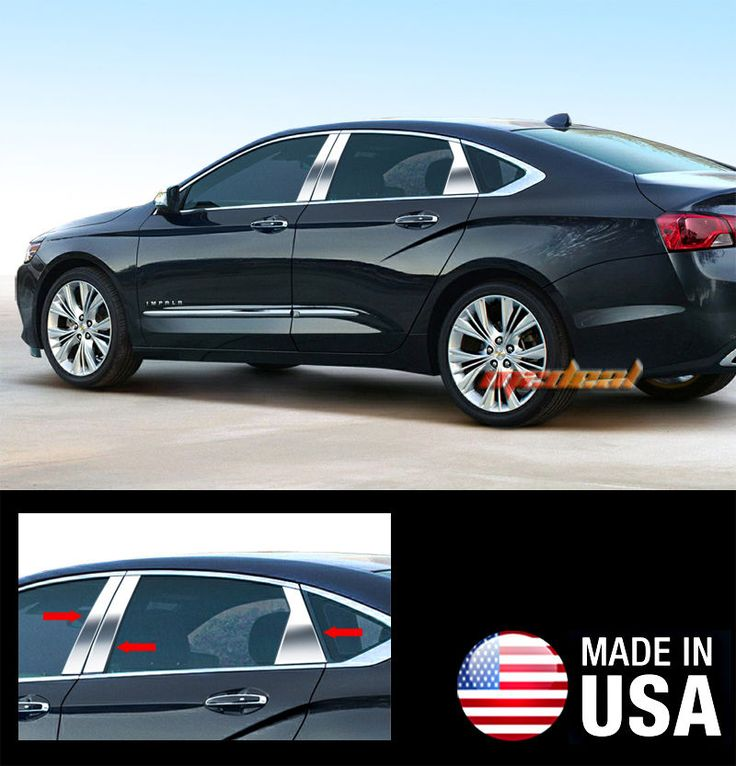 cool TYGER For 2014-2015 Chevrolet Impala 6PC Stainless Steel Chrome Pillar Post Trim   Check more at http://harmonisproduction.com/tyger-for-2014-2015-chevrolet-impala-6pc-stainless-steel-chrome-pillar-post-trim/