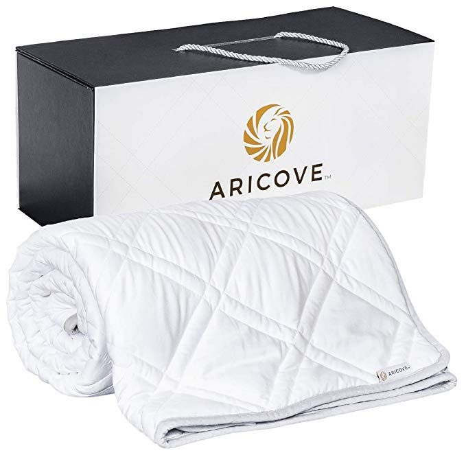 Amazon Com Aricove Cooling Weighted Blanket Adult Made Of