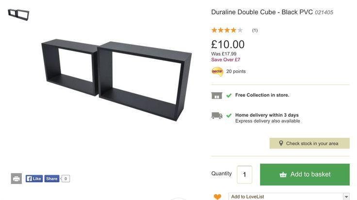 Shelves we bought at Homebase for £10 each pair