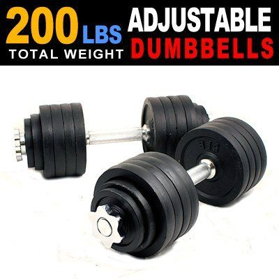 Unipack MTN Gearsmith Adjustable Dumbbell Set, Black-Painted, 200-Lbs by Unipack. Unipack MTN Gearsmith Adjustable Dumbbell Set, Black-Painted, 200-Lbs. Black-Painted.