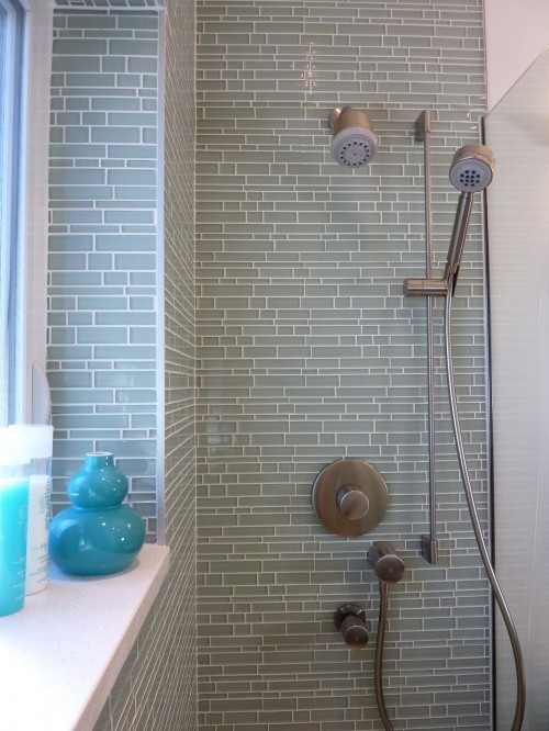 Love the tiles on this shower