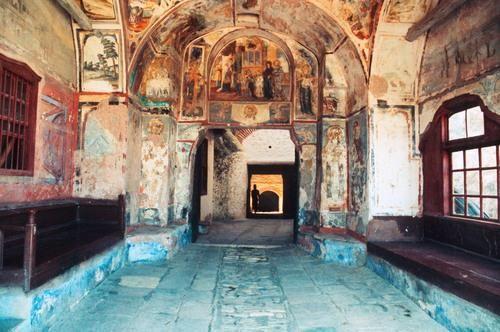 Αγιογραφιες στην εισοδο της Μονη Χιλανδαριου - Hagiographies at the entrance of Monastery of Chilandari