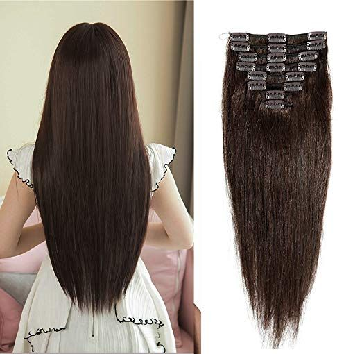 Sexybaby Clip-in 100% Remy-Human Hair Extensions 8-Pieces with 18 Clips