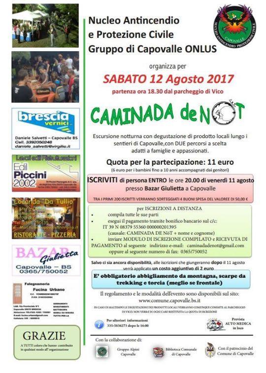 Caminada de Not a Capovalle  http://www.panesalamina.com/2017/57357-caminada-de-not-a-capovalle-4.html