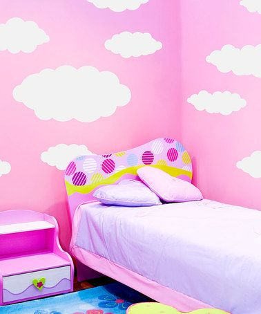 Take a look at this White Happy Little Clouds Wall Decal Set by Sissy Little on #zulily today!