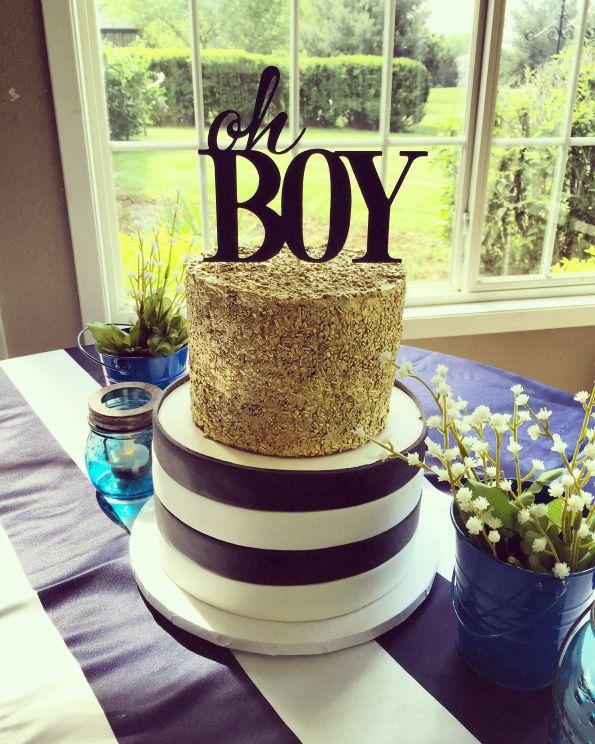 Boy Baby Shower! Oh Boy! Navy and white Baby shower   #amyscupcakeshoppe…