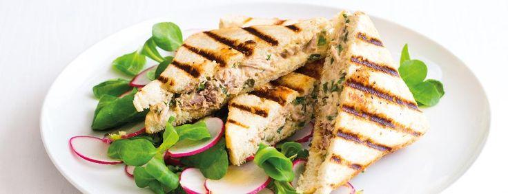 Grilované tuňákové sendviče