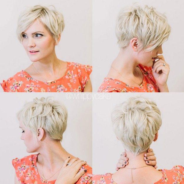 Eenvoudige kapsels voor kort haar: Korte gelaagde haarsnit voor vrouwen boven de 30 - 40