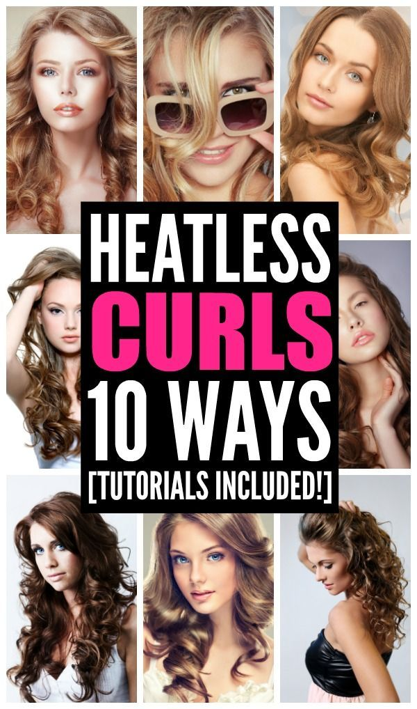 Curly hair takes time and means heat damage to your locks, right? Actually, not so much. Heatless curls are possible and they're not only time-saving, but cause much less damage to your hair than using a curling iron or curling wand. Using simple aids like bobby pins, headbands, and hair ties, you can create gorgeous curls without the harm. Check out ten ways to create flawless DIY no heat curls. Your hair will thank you!