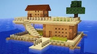Minecraft: How to Build a Survival House on Water - House Tutorial