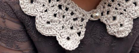 Crochet Collar Pattern - step-by-step photo tutorial - lovely.