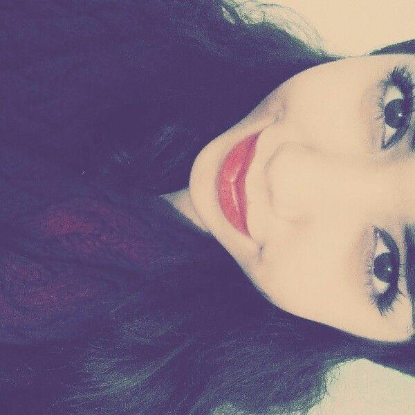 #makeup #red #girl #eyes