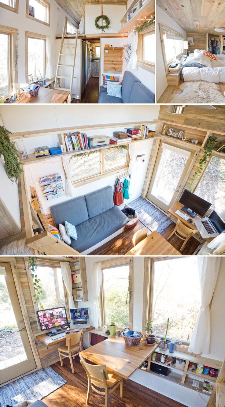 Tiny Project tiny house - design - minimalism, simple living, minimalist living space, small space design                                                                                                                                                                                 Más
