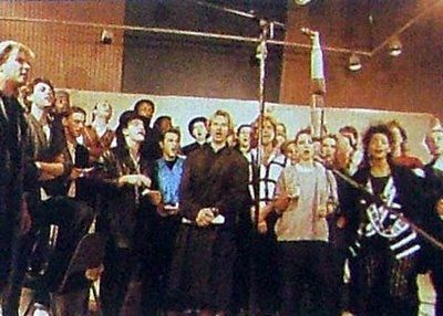 Bob Geldof's inspired a group of top musicians Band Aid recording 'Do They Know It's Christmas' on 25th November 1984 in aid of children suffering in famine struck Ethiopia