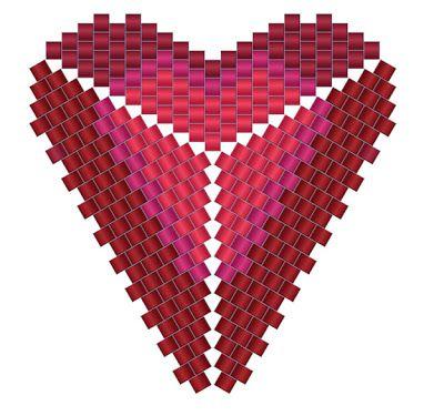 Кулон Серьги, Схема Сердце