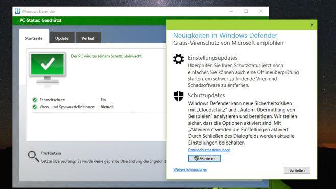 Windows Defender als Virenschutz nutzen©COMPUTER BILD