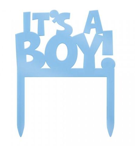 """Caketopper """"it's a boy!""""  Para tornar o momento mais divertido quando der """"a grande novidade""""! Visite: http://simdesignme.wixsite.com/2014/comp-pequenos Para mais info: sim.design.me@gmail.com"""