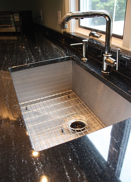 Granite Via Lactea With 90 Degree Sink That Damned