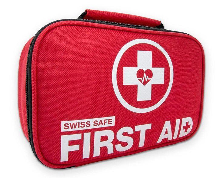 2-in-1 First Aid Kit (120 Piece) + Bonus 32-Piece Mini First Aid Kit:... #SwissSafe