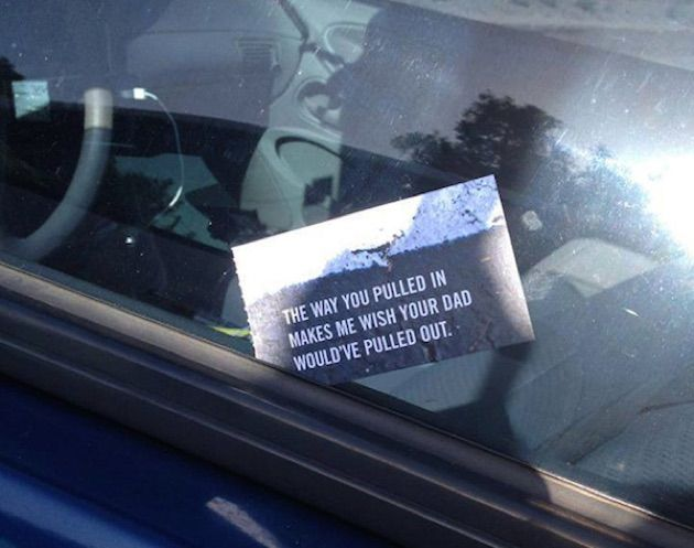 Funniest Bad Driver Parking Notes
