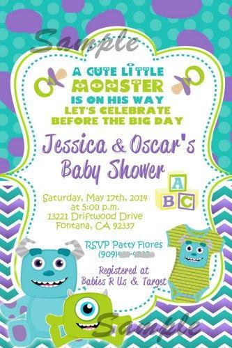 Monsters Inc. Baby Shower Invitation