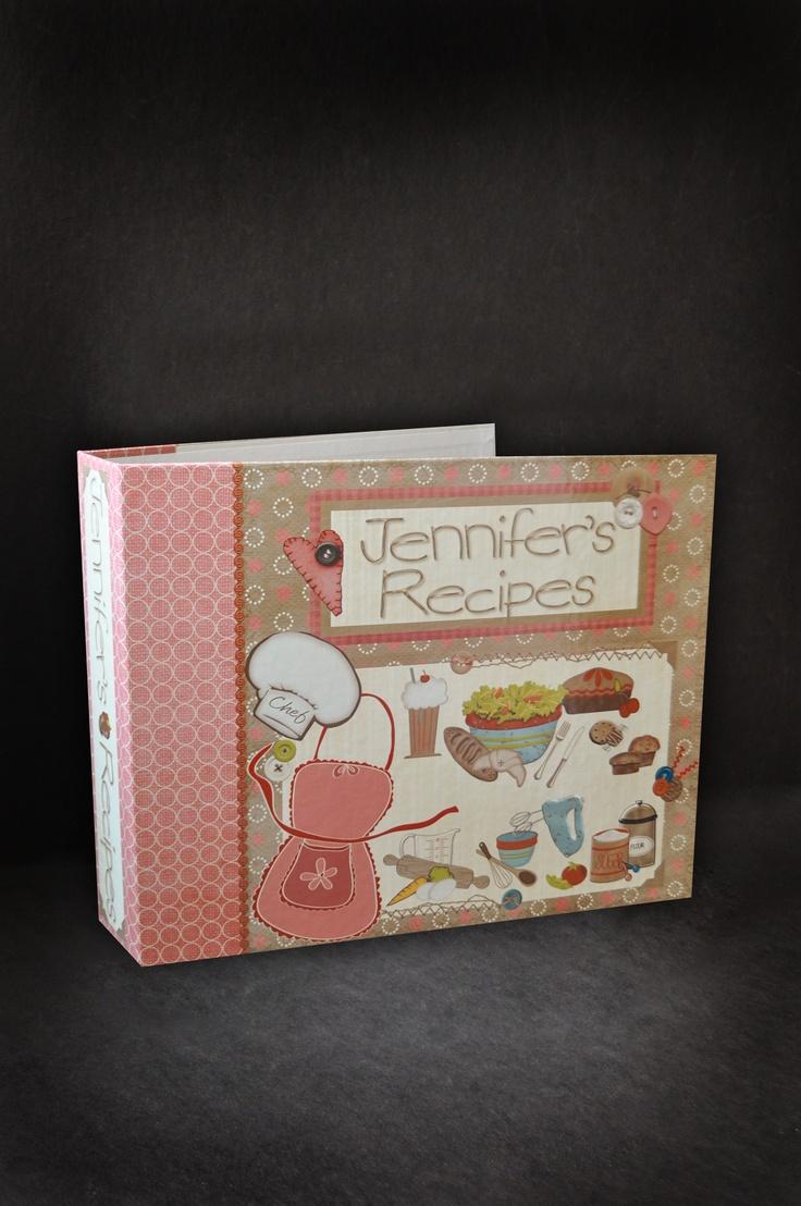 How to scrapbook recipes ideas - A Recipe Scrapbook Created On Thepaperworker Com Scrapbooking Recipes Cooking