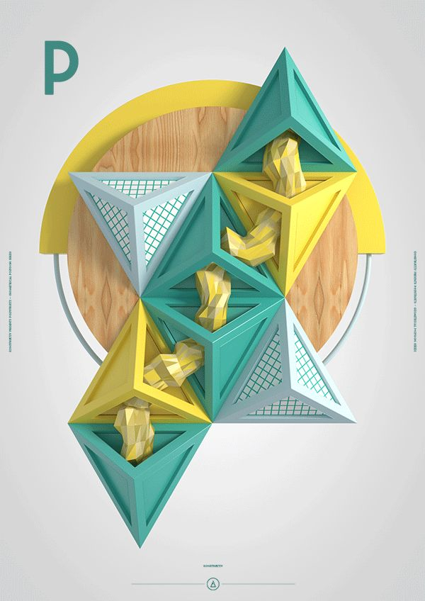 A geometric polygon sculpture – POLYSTRUKTS