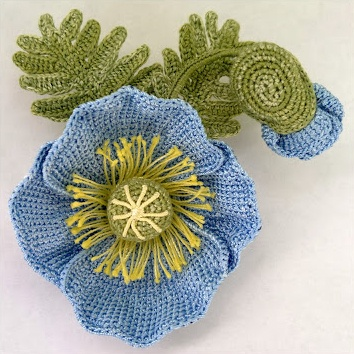 ...blue Poppy; with photo tutorial *
