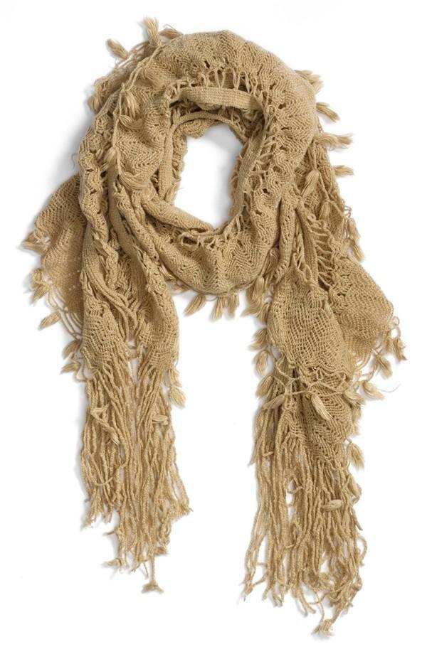 Love this fringe scarf.
