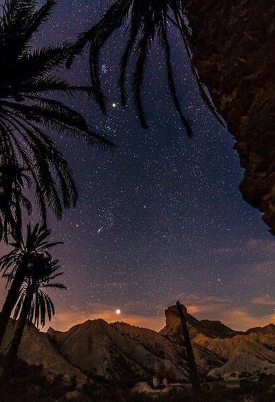 Nachtwanderung durch Europas einzige #Wüste  #Tabernas in Almeria.