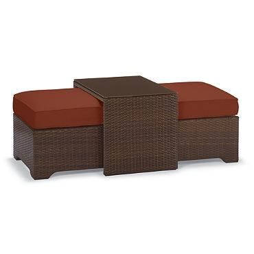 Palermo Coffee Table With Nesting Ottomans In Bronze Finish Palermo Ottomans And Coffee