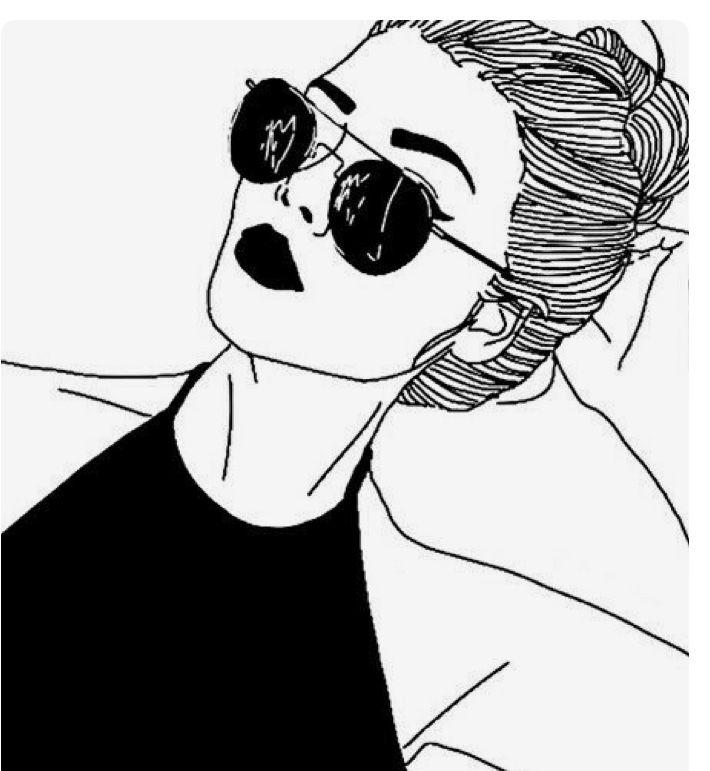 Черно белые картинки для распечатки на аву