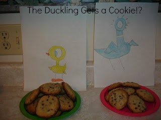 2 Big, 2 Little: Chocolate Chip and Walnut Cookies with The Duckling Gets A Cookie!?