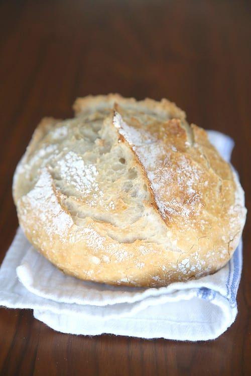 une boule de pain faite maison